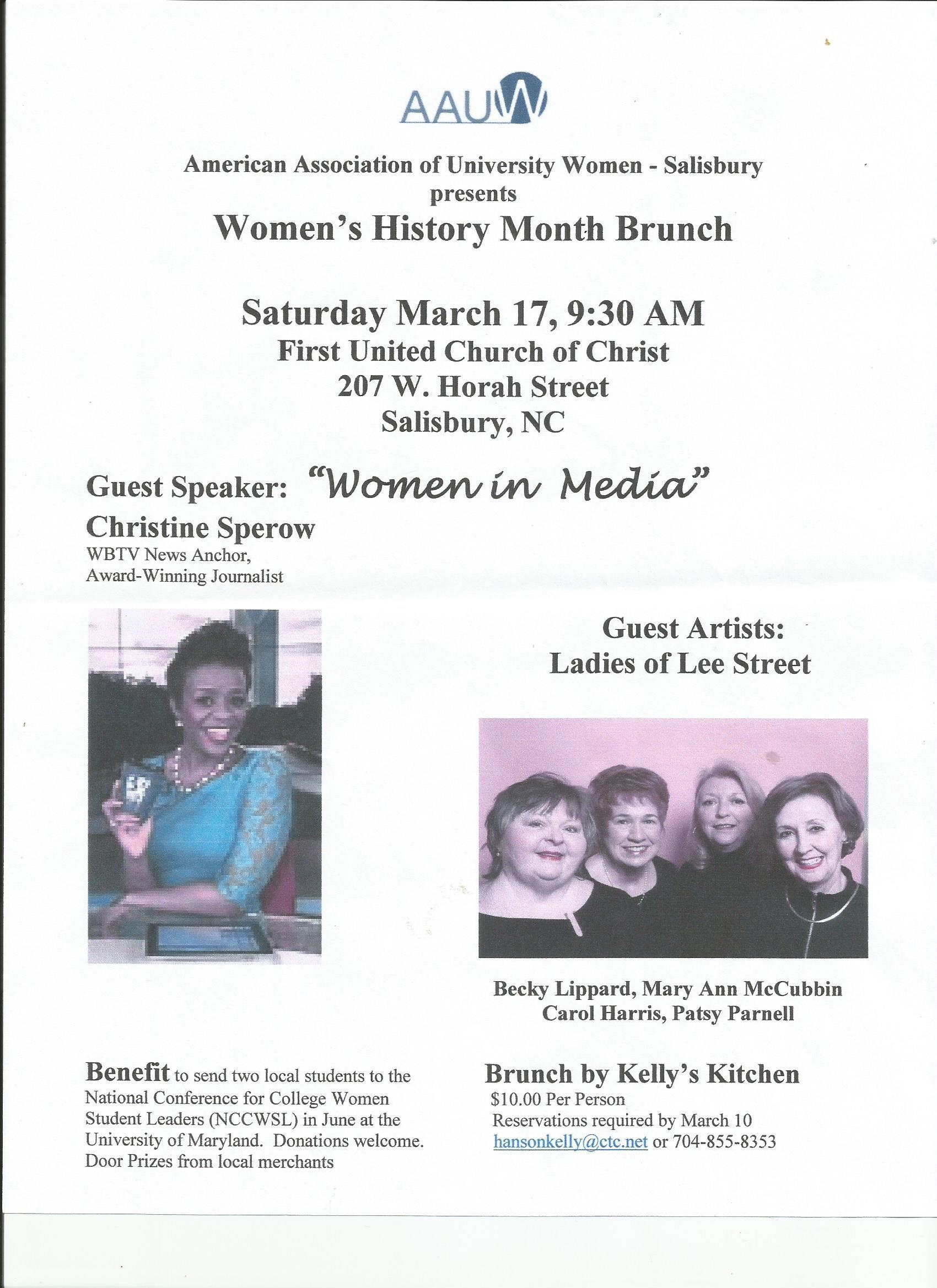 AAUW AAUW March Program 2018 | Salisbury (NC) Branch